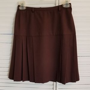 Jessica pleated skirt in 100% wool